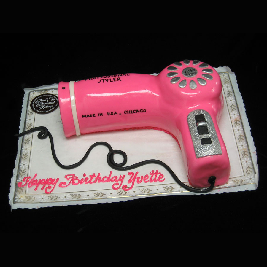Blow Dryer Birthday Cake Counting Candles