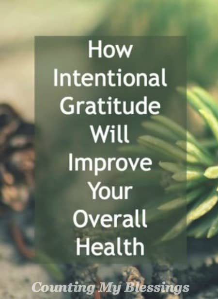 Research has proven that intentional gratitude improves physical, mental, emotional and spiritual health. Yes! It's good for you!
