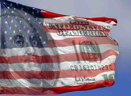 american flag with ben franklin