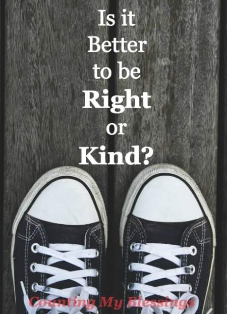 """Jesus said His followers would be known by the way they love each other. Which is better - to be right or kind? Maybe it's time to stop being """"right."""""""