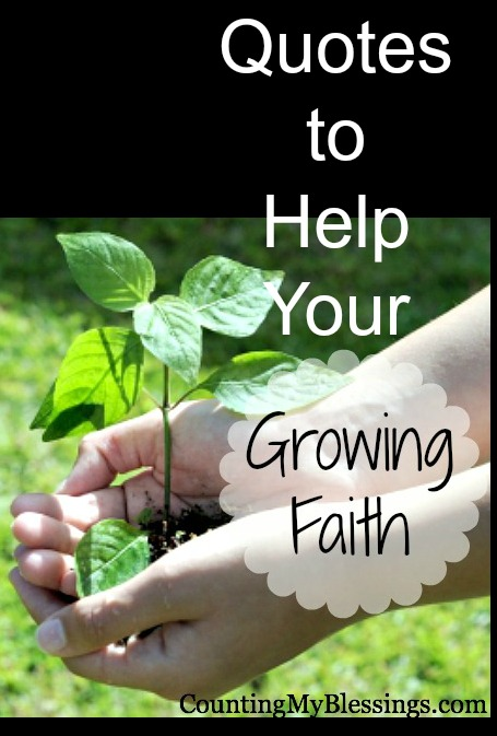 Quotes To Help Your Growing Faith Counting My Blessings Delectable Faith In God Quotes