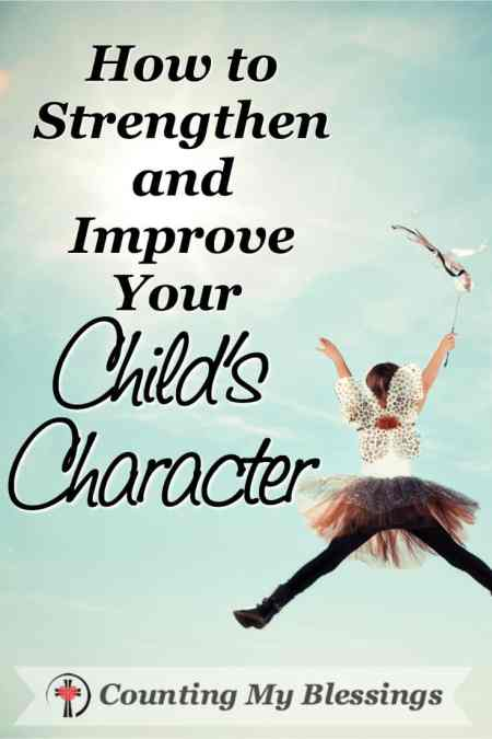 7 tips will help you mold your child's character and help them grow with grace. #BlessingBloggers #CountingMyBlessings