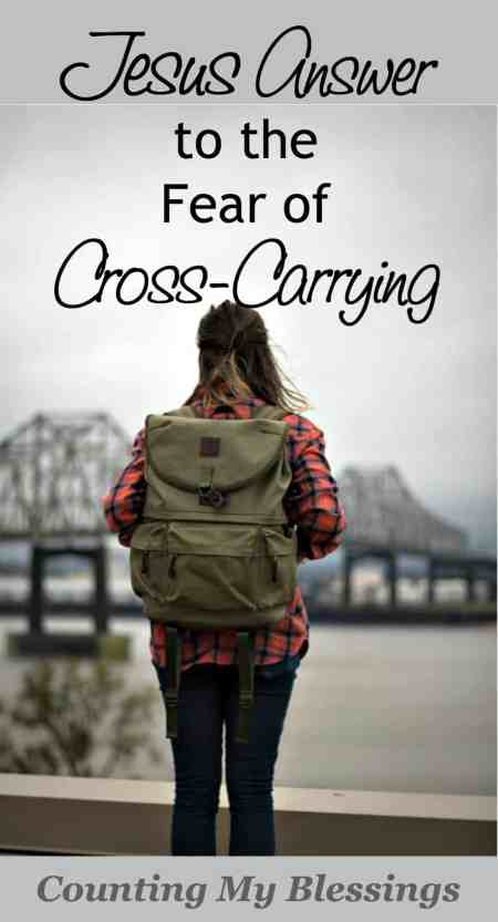 Cross-carrying is part of life. I can try to control and avoid, but crosses happen. Fear and worry can't prevent them. Jesus has the answer...