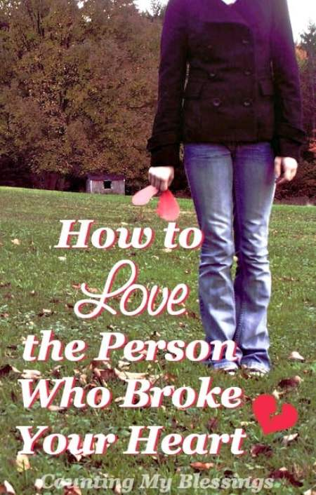You loved big and now your left hurt and angry. What now? How do you continue to love the person who broke your heart?