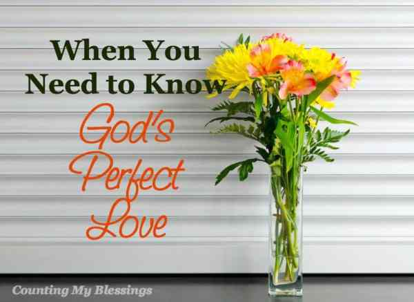 You've prayed for something forever and you're starting to doubt God's perfect love. That's when He says, Tell them I love them...