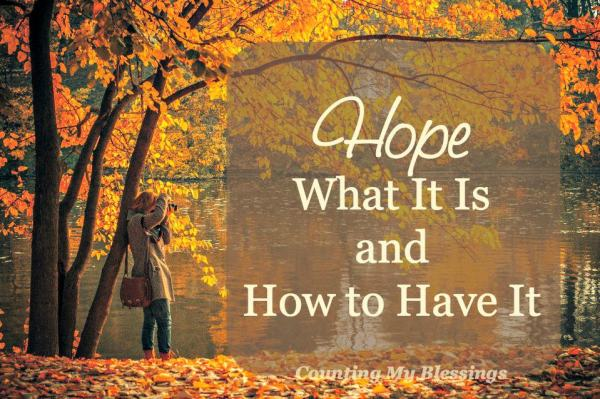 Everyone needs it. Most want it. But what exactly is it And how can you have it Hope... read this to learn more.