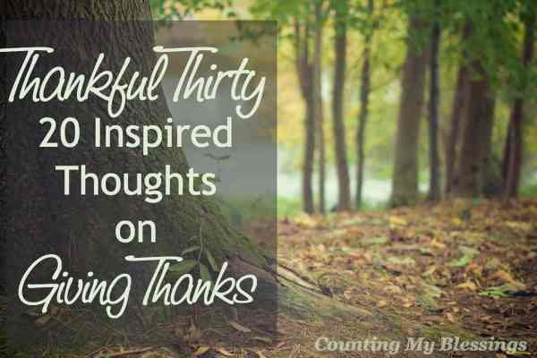 20 quotes and verses to inspire you this holiday . . . giving thanks to God for His countless blessings.