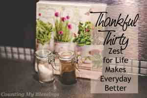 God gives everything we need to live with enthusiasm. You and I can live with a zest for life and enjoy everyday more...