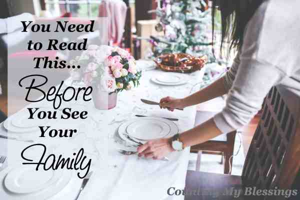 It's only been a few weeks. You made it through Thanksgiving, but now it's time to get together with your family AGAIN! Read this first...