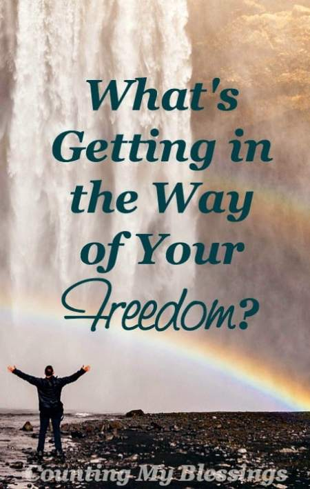 It is for freedom you have been set free. What is getting in the way of your freedom? Maybe it's time to do a personal assessment. Want to join me?