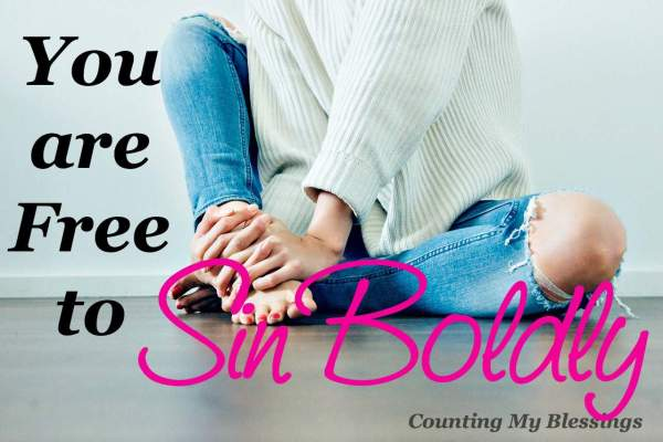 You may have heard, be a sinner and sin boldly. Really! What are we supposed to do with that Let's talk...