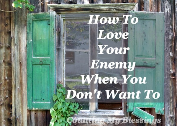 "Jesus said, ""love your enemy"" but sometimes it seems impossible. Here is a two-step process like ""rinse and repeat"" that will help. I promise."