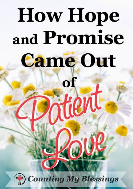 God's undeserved patient love flattens me. I listened to the old lie and I failed big time. But God waited, allowed forgave, and restored.