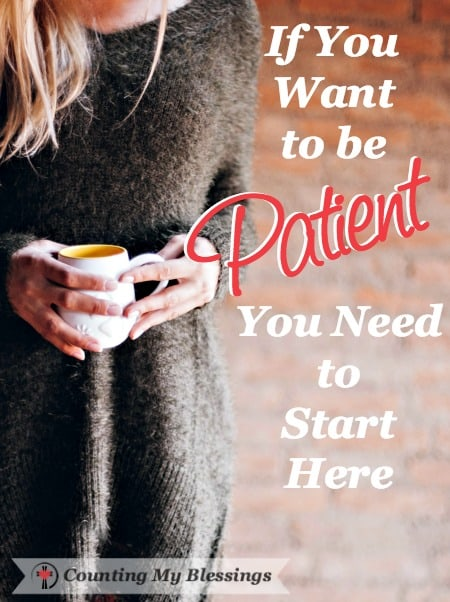 Are you patient? If you're like me . . . it depends on the circumstances or your mood. If you want to be patient you have to start vertically. Learn how here.