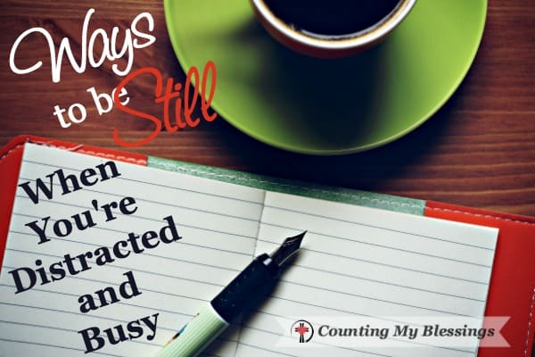 One of the hard parts about being still and knowing God is that we've grown accustomed to being busy. Change is hard. But I'm ready. Will you join me?