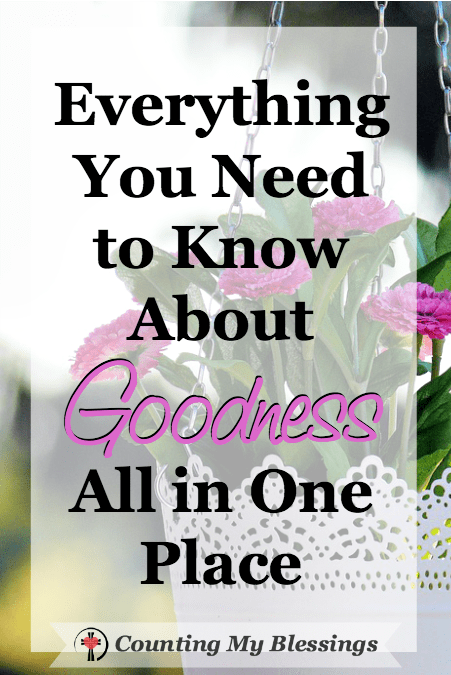 I wanted to know about goodness but foolishly thought I'd be learning more about obedience. Was I wrong! Goodness is about righteousness, grace & love.