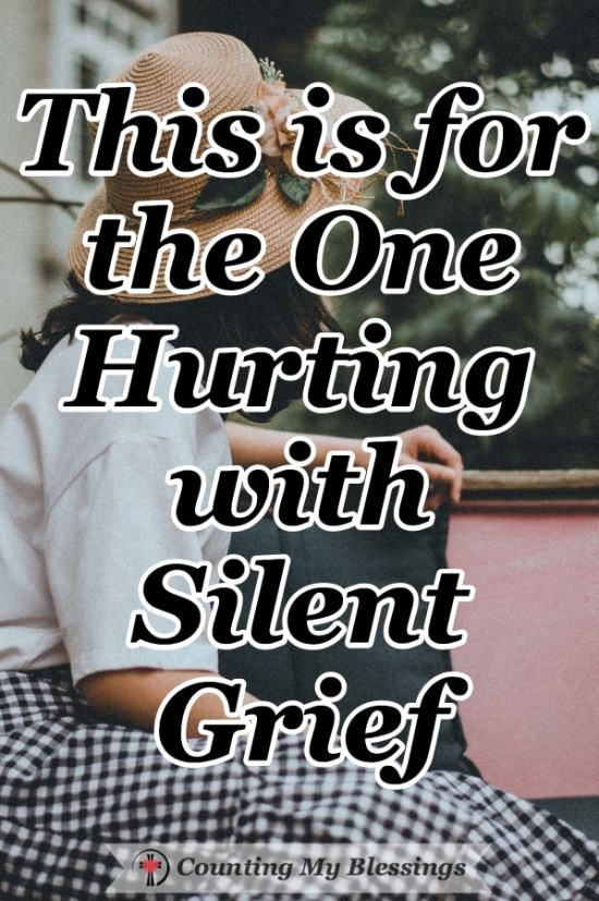 This is for you, the one hurting with silent grief. The one whose life has been altered by a loss or event that's left you feeling broken and alone. You are seen. You are heard. You are not alone. #Grief #Faith #Prayer #Truth