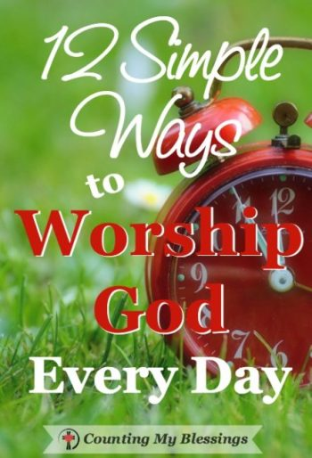 I wanted to find simple ways to add worship to my daily routine. Click over to find out the 12 things I'm using to help make worship and integral part of my life.