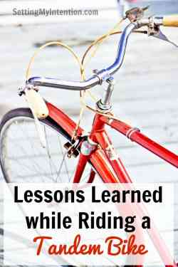 Lesson Learned While Riding a Tandem Bike