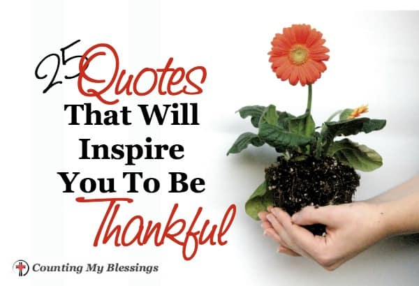 25 Quotes That Will Inspire You To Be Thankful Counting My Blessings
