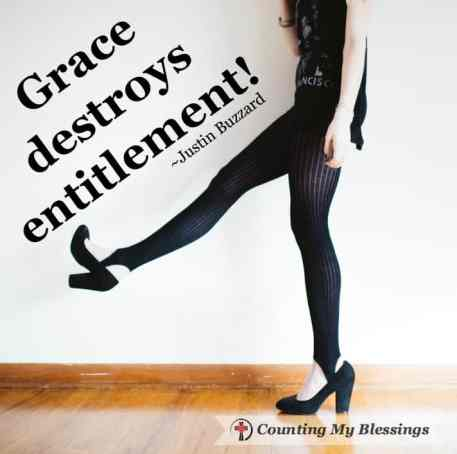 """The best way to get over a greedy, self-serving """"I deserve it"""" entitlement attitude is to stop thinking about ourselves and start caring for others."""