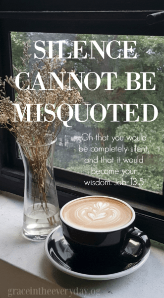 Silence Cannot Be Misquoted by Tammy Provins