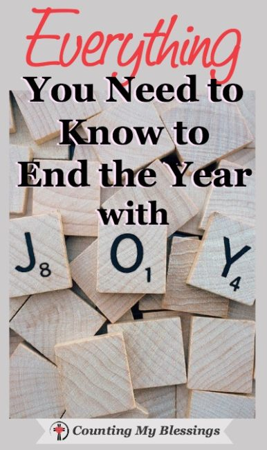 I don't want joy to be just a word we throw around at Christmas. Seriously, don't you want to take the feeling of joy with you into New Year