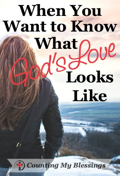 "What does God's love look like? It's an important question to ask and answer because the Bible says we should, ""love others the way God loves us."""