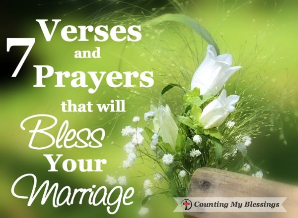 After 45 years of marriage - these marriage verses and prayers have blessed us. I pray that will bless your marriage adventure, too.