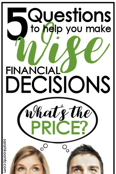 What's the P-R-I-C-E? 5 Questions to Help You Make Wise Financial Decisions