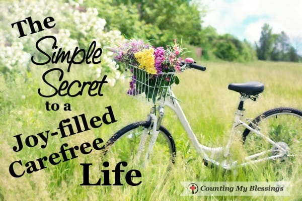 Are you tired of stress and anxiety ruining your health? One simple secret can change everything and give you a joy-filled carefree life.