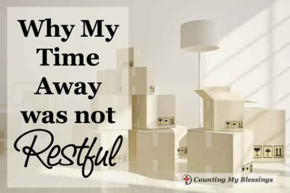 The last few days I've forced myself to slow down, ignore the boxes still crying to be unpacked, and quieted myself to rest with Jesus.