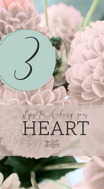 3 Steps to Checking Your Heart by Michelle Skillern