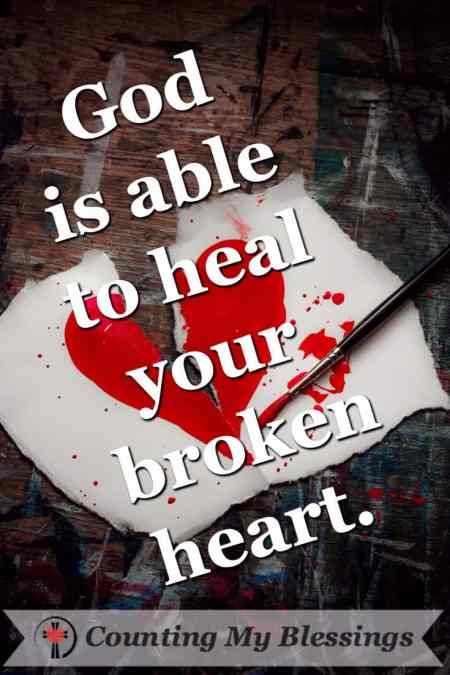 Who broke your heart? It's impossible to get through life without experiencing the occasional broken heart. But you will survive... Counting My Blessings