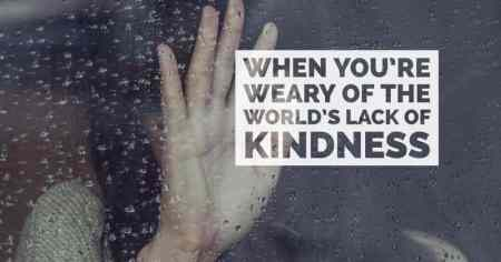 When You're Weary of the World's Lack of Kindness by Amy Jung