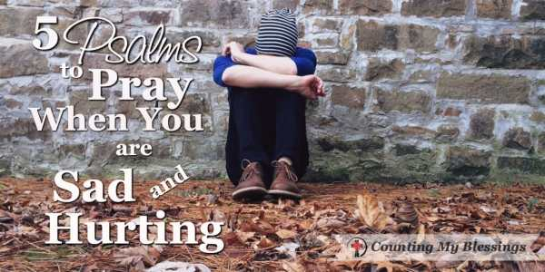 I've pleaded and asked God to fill me with His peace as He makes me aware of His faithfulness & love. 5 Psalms to Pray When You are Sad - Counting My Blessings