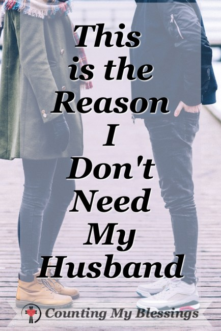 A couple standing face to face - why I don't need my husband! #Marriage #Faith