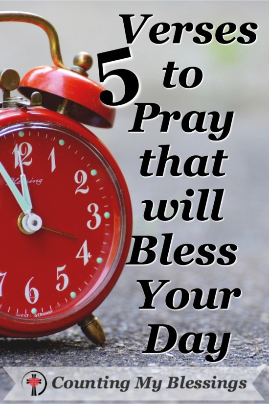 It's not easy to live one day at a time. There 5 prayers will bless your day and help you trust God's will for today!