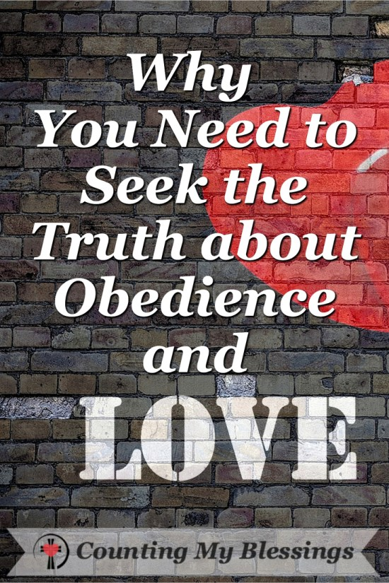 The Bible makes a connection between obedience and love but there are so many rules and traditions, I want to seek the truth.