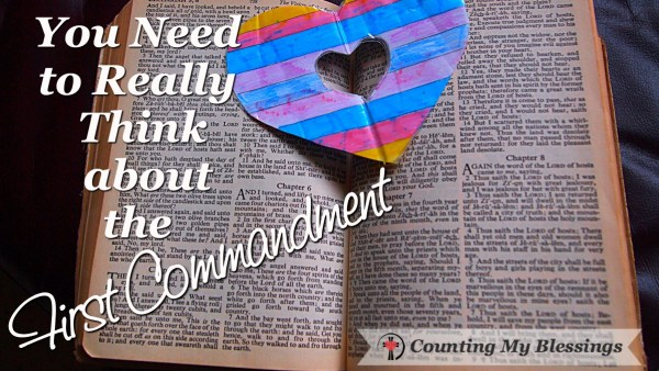 You love the God of the Bible but what about the First Commandment - what about the other gods in your life?