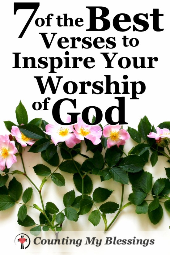 Are you going through a storm? If fear or worry making it hard to worship? These 7 verses promise to inspire your worship of God.
