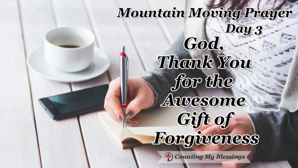 You and I cry out for justice and fairness but in God's courtroom there is grace and mercy through Jesus - there is the Awesome Gift of Forgiveness.#Jesus #Faith #BlessingCounter #MountainMovingPrayers