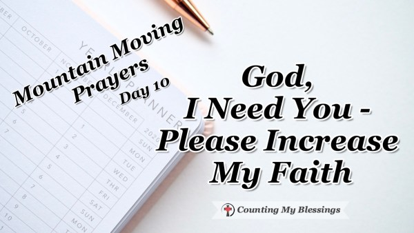 It's frustrating how often fear lies to me and keeps me from living the life I know God wants for me ... I'm praying, please increase my faith. #Faith #Bible #MountainMovingPrayers #BlessingCounter