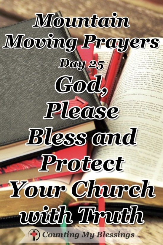 The church has been under attack from without and within since the beginning. So, I'm asking God ... please bless and protect Your church. #Church #Faith #MountainMovingPrayers #BlessingCounter