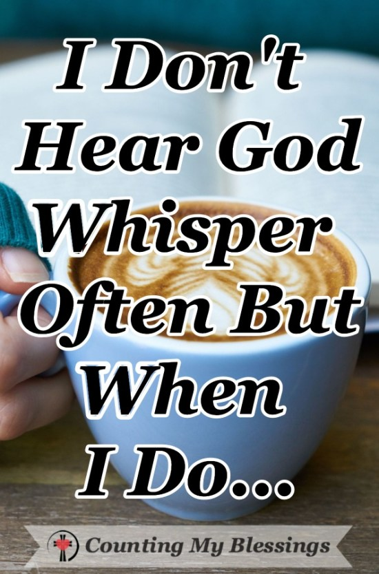 It was a clear and quick response to my prayer ... God's soft whisper. His words were so powerful, I had to share them here... #HearGod'sVoice #BibleStudy #PrayforRivial #FaithinGod