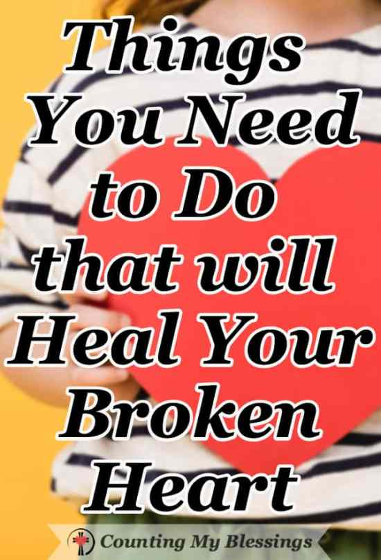 You loved big and you weren't loved in return and the pain feels overwhelming. But there are things you can do that will heal your broken heart. #BrokenHeart #Faith #Hope #Marriage #Parenting #Relationships