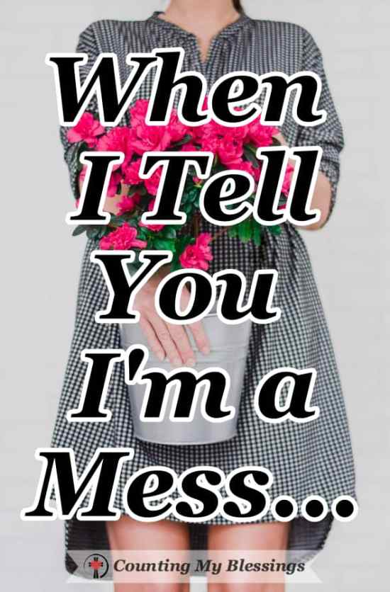 When I tell you I'm a mess ... I'm saying I need help and I'm inviting other messy people to join me as I try to find a better way. #faithblogger #IneedJesus #BibleStudy #SeekGodFirst #CountingMyBlessings