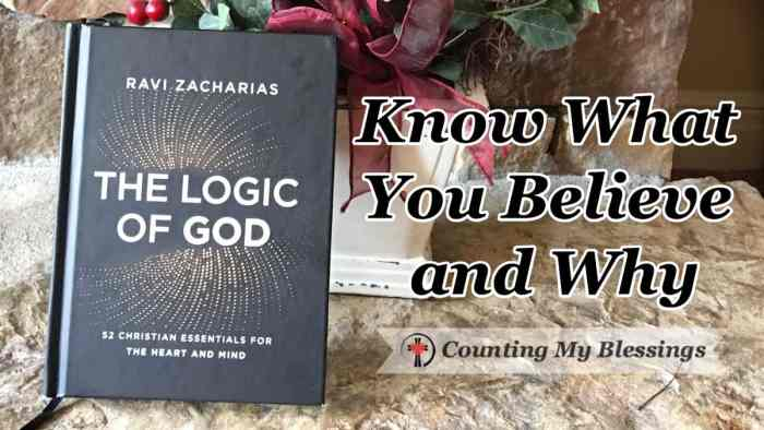 If you want to ground your beliefs on the truth and feel more comfortable sharing what you believe, The Logic of God by Ravi Zacharias, is for you. #BookReview #Faith #Christian #CountingMyBlessings