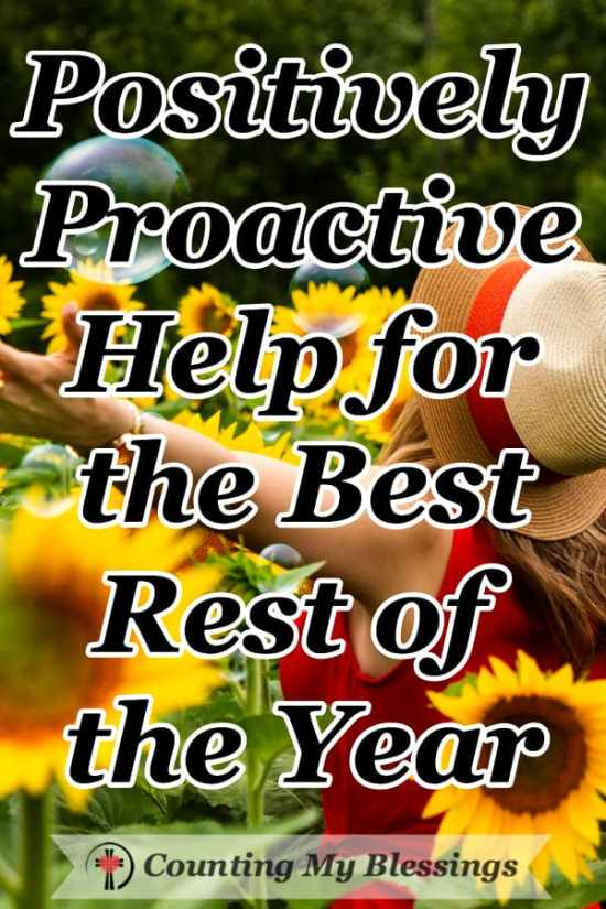 You started the year with goals, plans, hopes, and dreams but now you need to be positively proactive help to get back on track to bless the rest of the year. #Blessings #Productivity #Faith #Hope