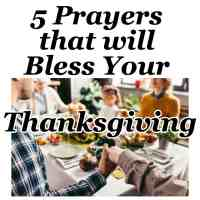 5 Prayers that will Bless Your Thanksgiving